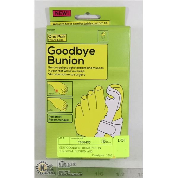 NEW GOODBYE BUNION NON SURGICAL BUNION AID