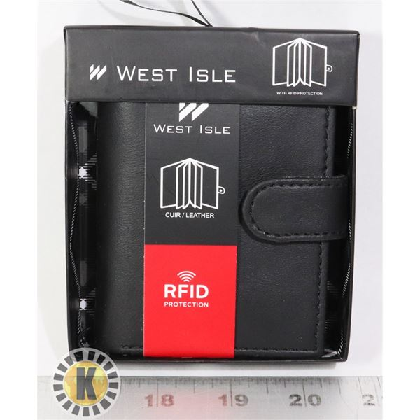 NEW LEATHER CARD HOLDER WITH BUILT IN RFID