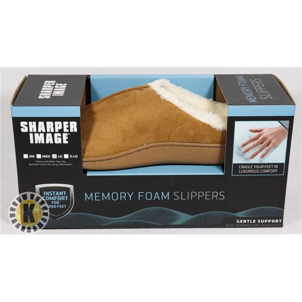 NEW MEMORY FOAM SLIPPERS SIZE LARGE
