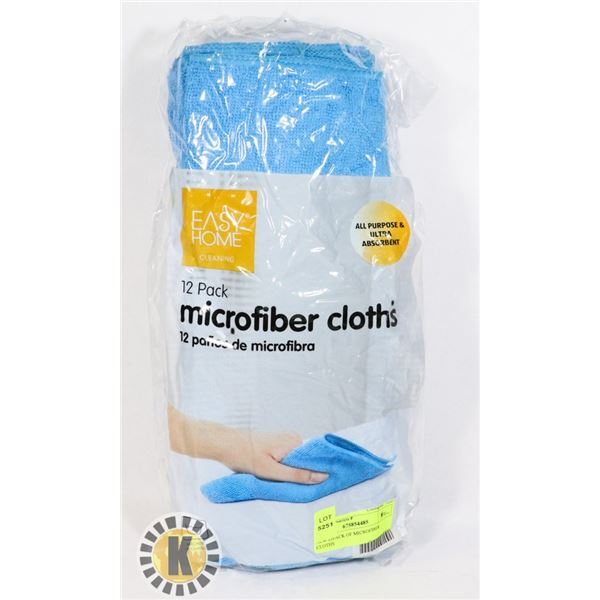 NEW 12PACK OF MICROFIBER CLOTHS