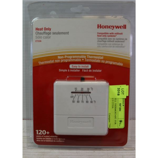HONEYWELL THERMOSTART FOR HEAT ONLY CT33A