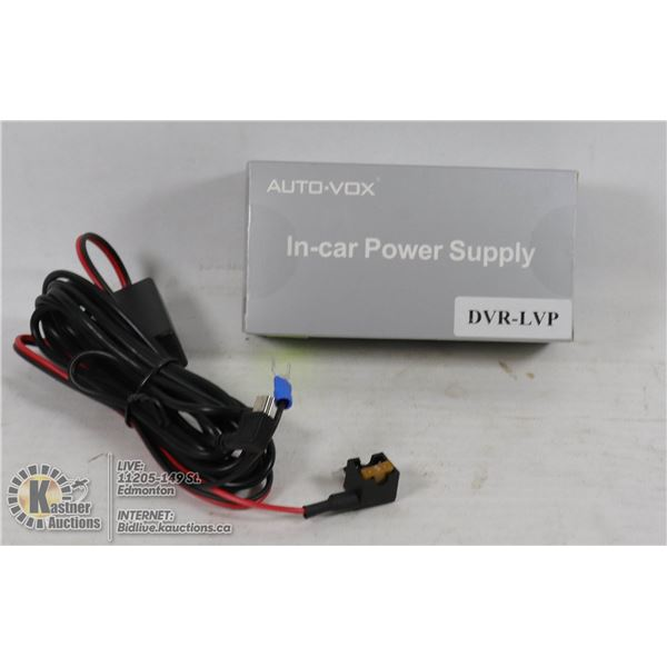 AUTO-VOX IN-CAR POWER SUPPLY DVR-LVP