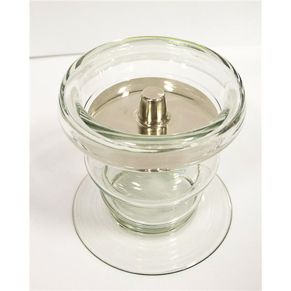 COUNTRY STYLE GLASS CANDLE HOLDER - POTTERY BARN