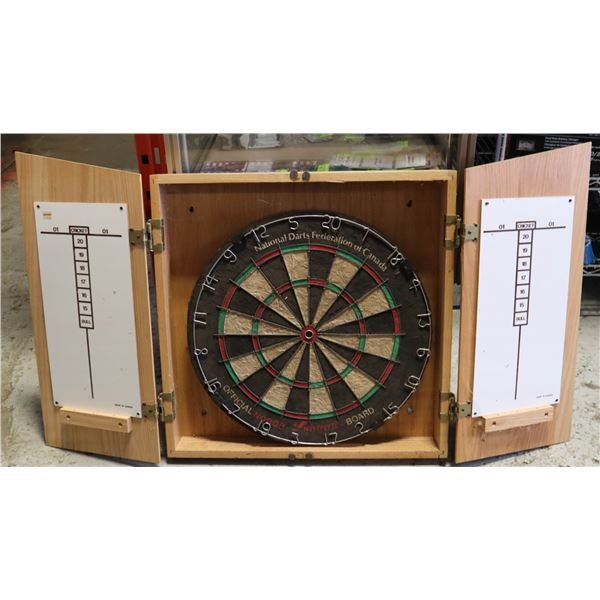 NATIONAL DART FEDERATION BOARD IN CABINET WITH