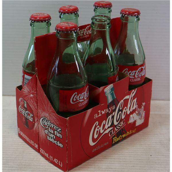 6 PACK COCA COLA DARK GREEN BOTTLES IN CASE