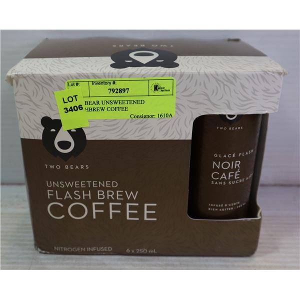 TWO BEAR UNSWEETENED FLASHBREW COFFEE