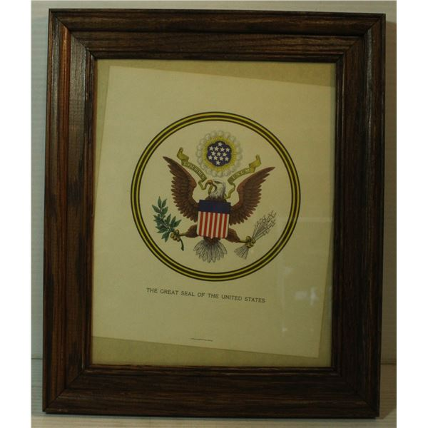 OFFICIAL FRAMED SEAL OF THE USA FROM B.E.P