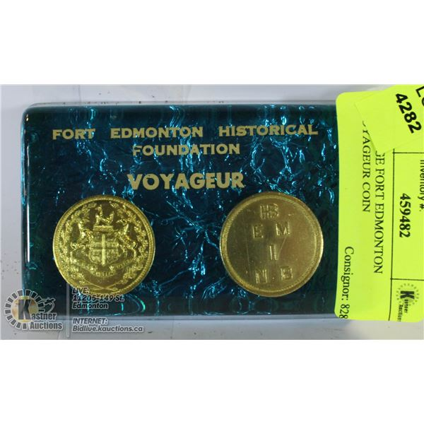 VINTAGE FORT EDMONTON VOYAGEUR COIN