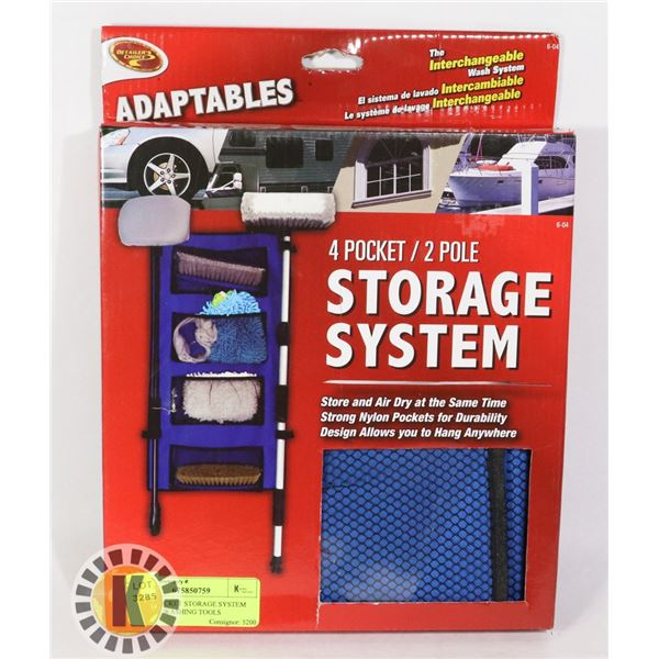 NEW 4 POCKET STORAGE SYSTEM FOR CAR WASHING TOOLS