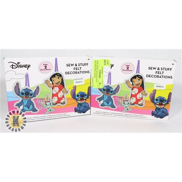 NEW DISNEY SEW AND STUFF DECORATIONS 2 BOXES