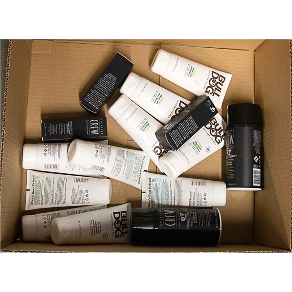 BOX OF ASSORTED MENS SHAVING PRODUCTS, CREW &