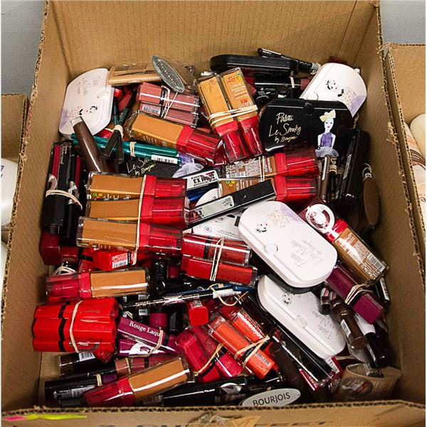 FLAT LOT OF ASSORTED COSMETICS WITH SOME TESTERS