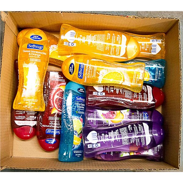 LOT OF ASSORTED SOFT SOAP BODY WASH