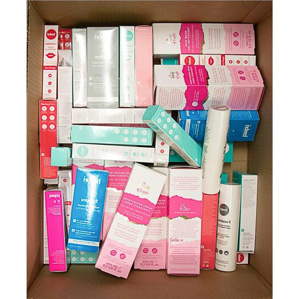 FLAT LOT OF ASSORTED FACIAL PRODUCTS