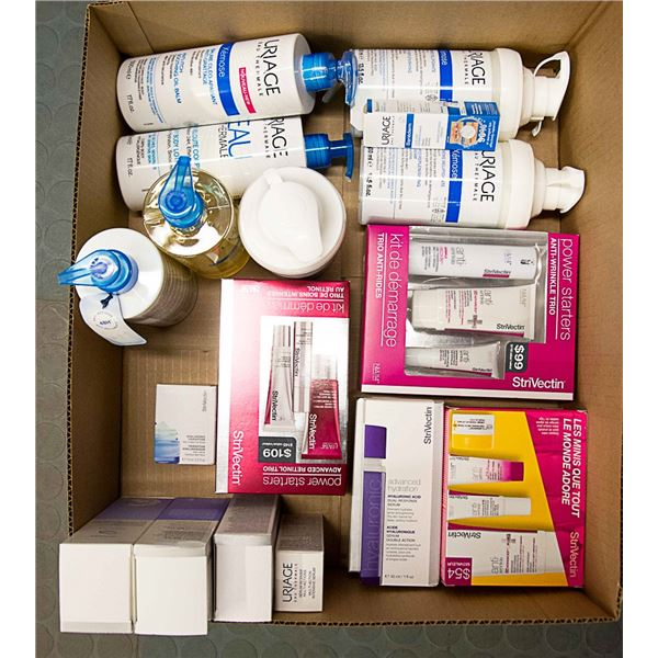 FLAT LOT OF ASSORTED SKIN CARE PRODUCTS