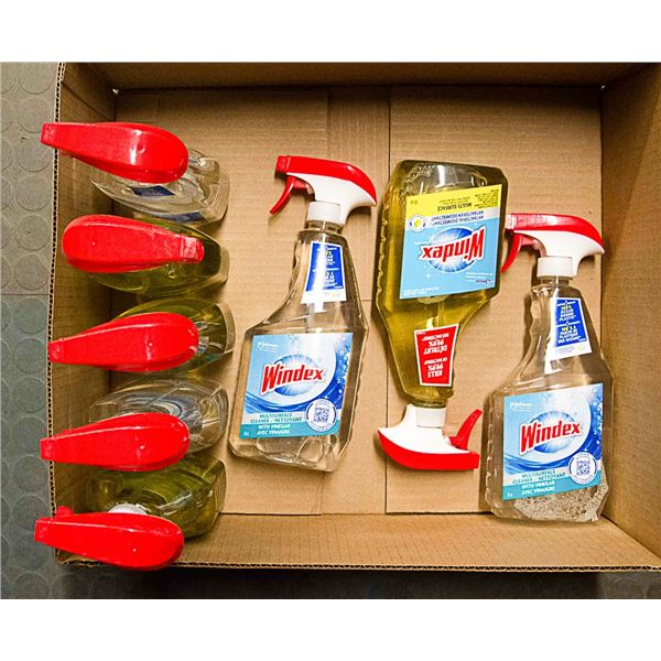 FLAT LOT OF ASSORTED CLEANING SUPPLIES