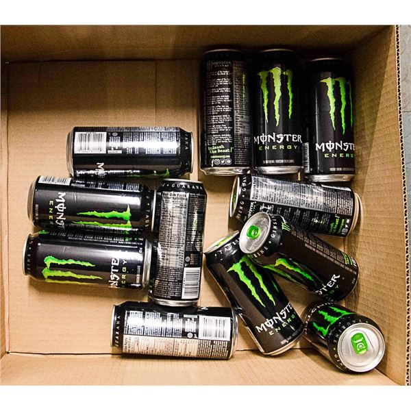 FLAT LOT OF MONSTER ENERGY DRINK