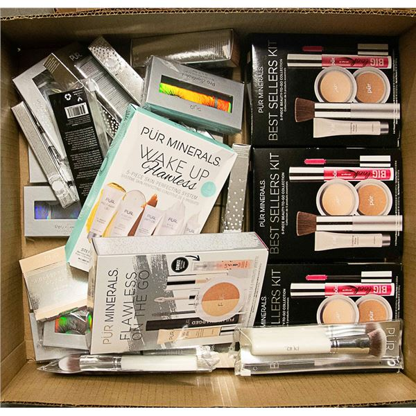 FLAT LOT OF ASSORTED BRAND NAME COSMETICS W/ TESTE