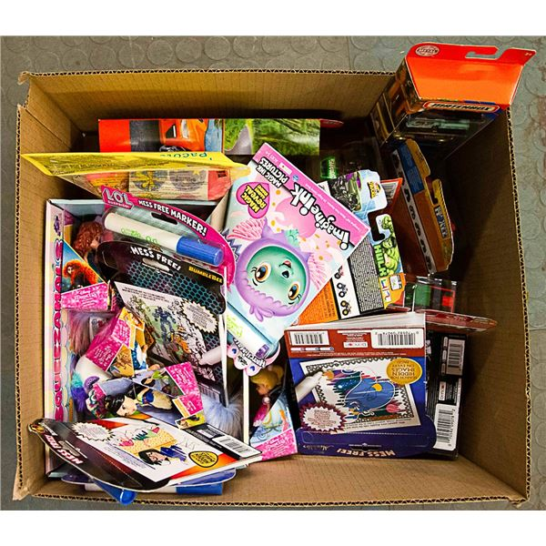FLAT LOT OF ASSORTED CHILDRENS TOYS