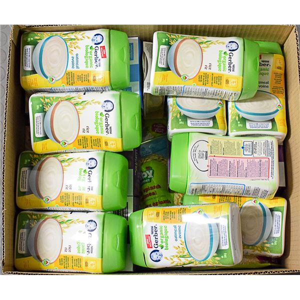 FLAT LOT OF ASSORTED INFANT FOOD PRODUCTS