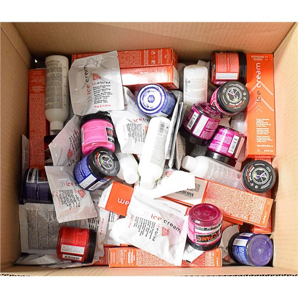 FLAT LOT OF ASSORTED BRAND NAME HAIR CARE PRODUCTS