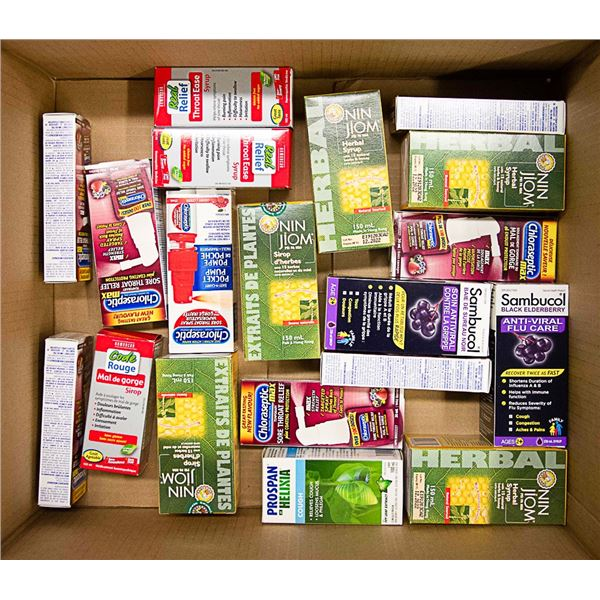 FLAT LOT OF ASSORTED COUGH & COLD RELIEF