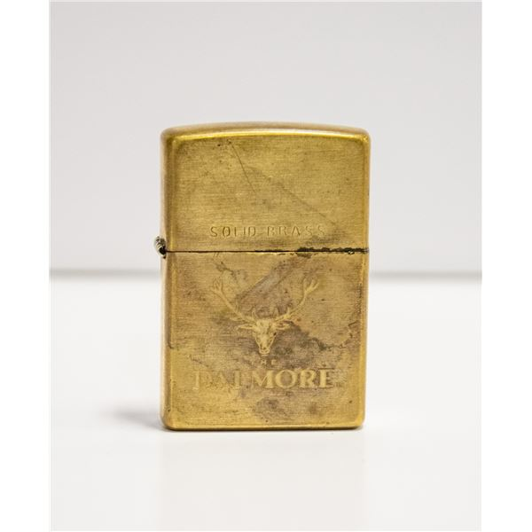 """1999 ZIPPO """"DALMORE"""" SOLID BRASS LIMITED"""