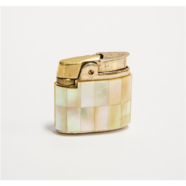 1950'S PEARL INLAY RONSON LIGHTER ENGLAND