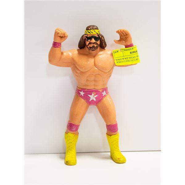 WWE/WWF TITAN MACHO MAN WRESTLING FIGURE