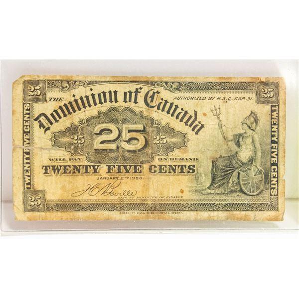 1900 CANADIAN SHIMPLASTER