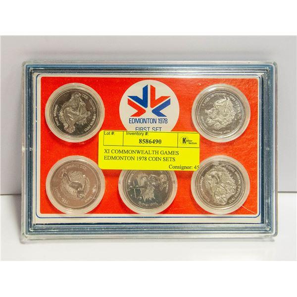 XI COMMONWEALTH GAMES EDMONTON 1978 COIN SETS