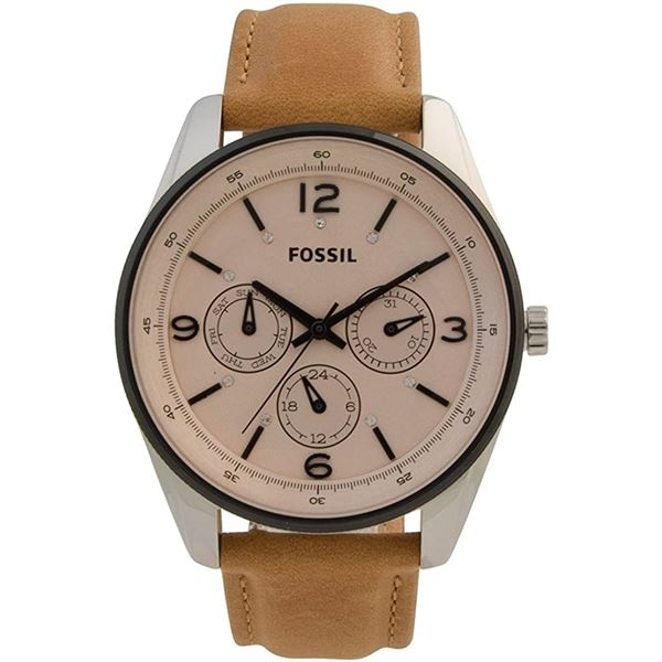 NEW FOSSIL TRIPLE CHRONO BEIGE DIAL MSRP $275 42MM
