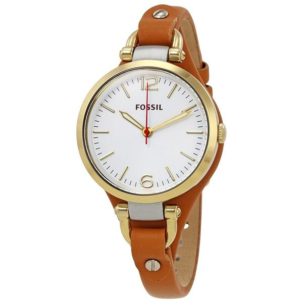 NEW FOSSIL 32MM TAN LEATHER STRAP WATCH MSRP $165