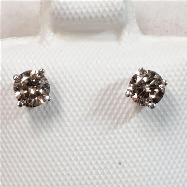 14K WHITE GOLD DIAMOND(0.4CT,I1-I3,H-I)  EARRINGS