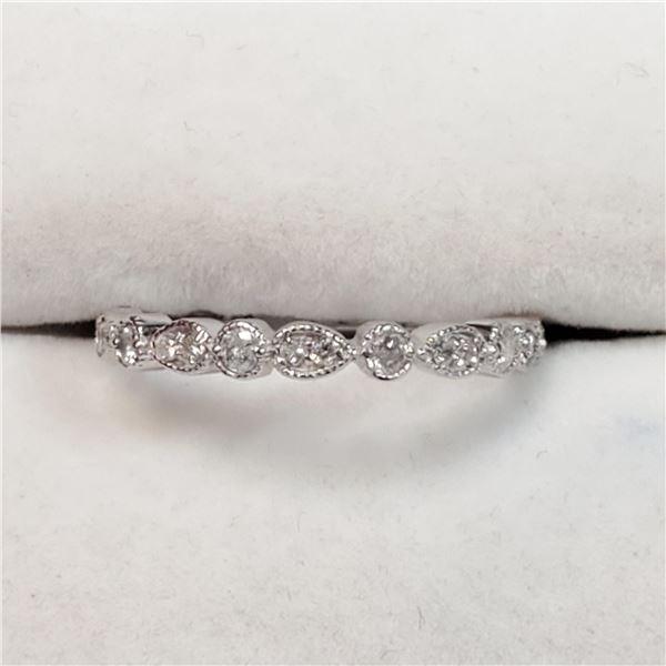 10K WHITE GOLD DIAMOND(0.27CT,I1-I2,G-H) RING
