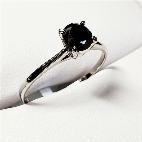 TN188-22 10K  BLACK DIAMOND RING