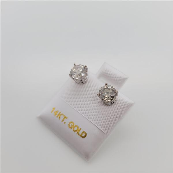 14K  DIAMOND(1.52CT,I2-3,G-H)2 DIFFERENT EARRINGS