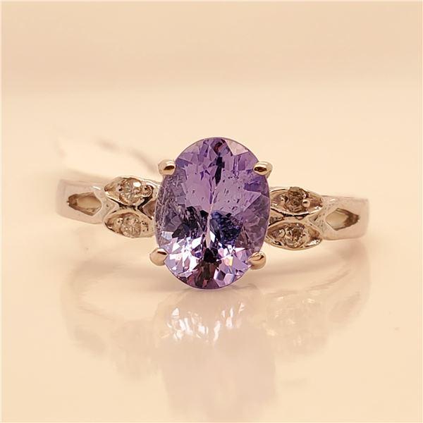 10K  TANZANITE DIAMOND RING