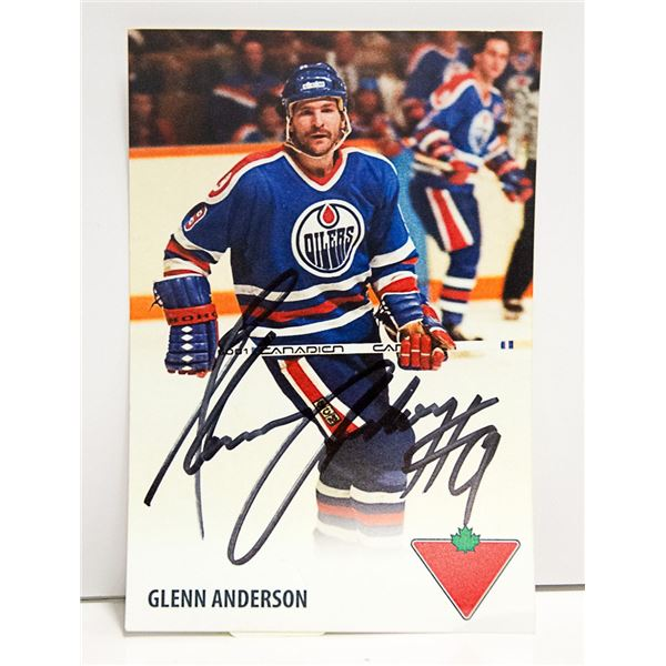 AUTOGRAPHED OILERS GLENN ANDERSON PHOTO