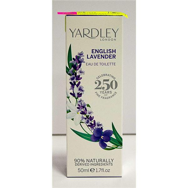YARDLEY EAU DE TOILETTE 50ML 90% NATURALLY DERIVED