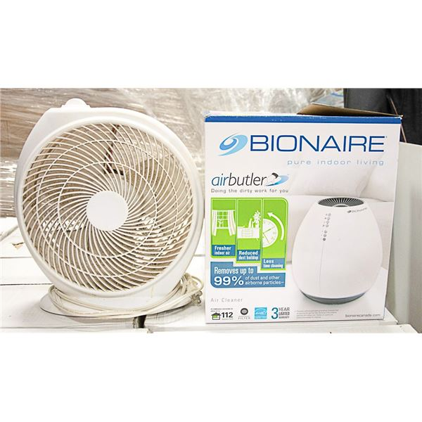 BIONAIRE AIRBUTLER AIR CLEANER SOLD WITH FAN