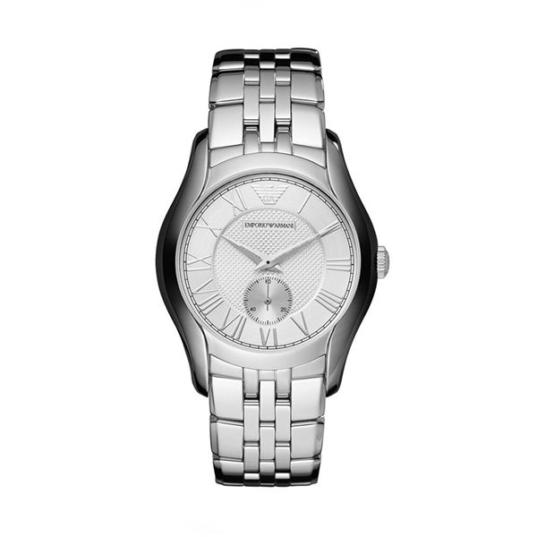 NEW ARMANI UNISEX  38MM SILVER DIAL MSRP $309