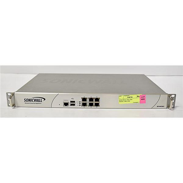 SONICWALL NSA 2400 MODEL:1RK25-084
