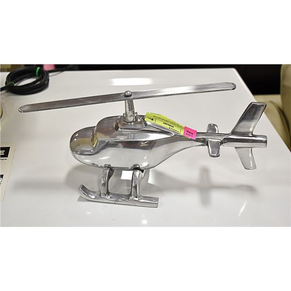 """STAINLESS STEEL HELICOPTER APPROX 10"""" X 5"""""""