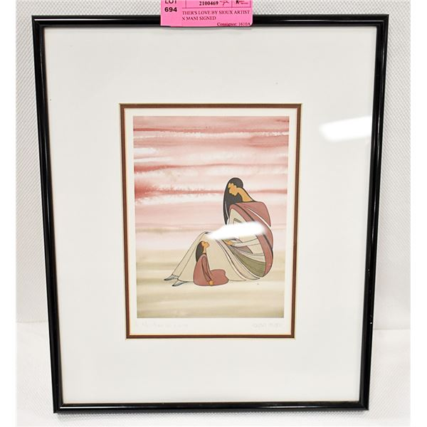 A MOTHER'S LOVE BY SIOUX ARTIST IOYAN MANI SIGNED