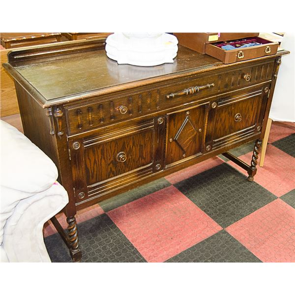 """WOODEN DINING SIDEBOARD APPROX H-36"""" L-54"""""""