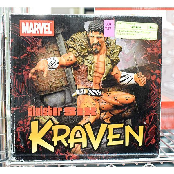 KRAVEN SPIDER-MAN VILLIAN STATUE FIGERINE