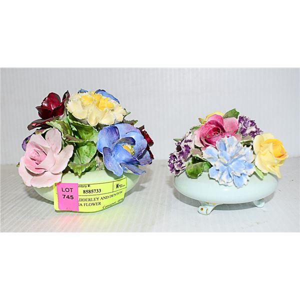 VINTAGE ADDERLEY AND DENTON BONE CHINA FLOWER