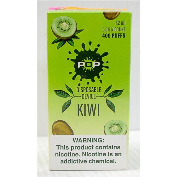 BOX W/10 POP KIWI 5% DISPOSABLE E-CIGS