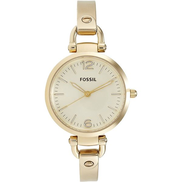 NEW FOSSIL CHAMPAGNE DIAL GOLD TONE 34MM WATCH